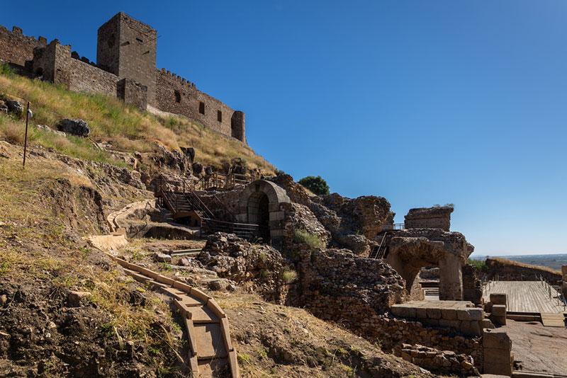 Ruinas romanas en Medellín