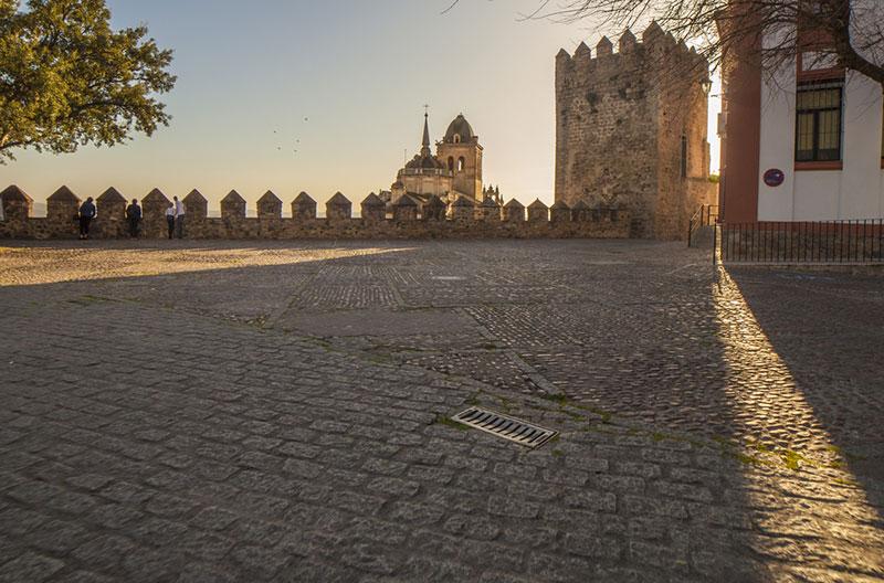 Fortaleza en Jerez de los Caballeros desde el interior